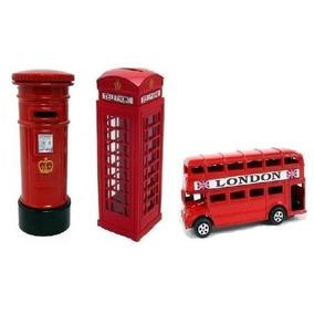 Miniaturas Ônibus + Correios + Cabine Telelefonica Londres