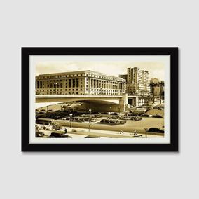 Quadro Sao Paulo Cidade Imagem Antiga Sala M41 Decor Moldura