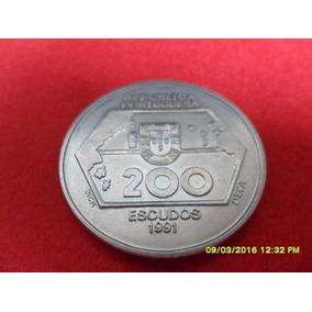 Moeda 200 Escudos 1991 Portugal Cu Ni Fc