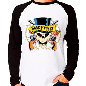 Camiseta Banda Guns N Roses Raglan Manga Longa b32dbf5ecc4