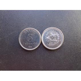 25 Moedas Brasil 5 Centavos Cruzado Ano 1986 Soberba