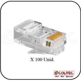 100 Unid. Lote Conector Rede Local Rj 45 Rj45 Cabo Lannivel5