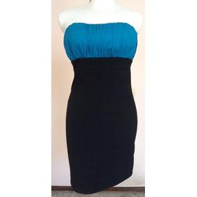 Vestido azul rey con negro