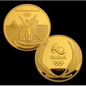 Moeda Revestida Ouro Olimpiadas Rio 2016 - Frete R$ 15,00