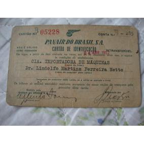 Panair Do Brasil - Cartão Identificação 1952*
