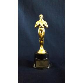 Premio Oscar De 20cm Con Base De Plastico Vacia- Grabados