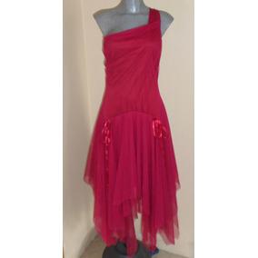 Padrisimo Vestido De Coctel Tela De Gasa Talla 302/34