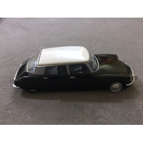Carro Miniatura Metal Citroen Ds19 + Ficha Auto Collection