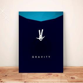 Pôster Gravidade Astronauta - Placa Rígida A3 #pdv030a0