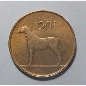 Irlanda 20 Pence 1986 Excelente Km 25 Animal Caballo
