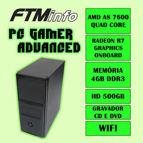 Cpu Gamer Amd A8 7600 4gb Hd 500gb Radeon R7 Dvd-rw Wifi