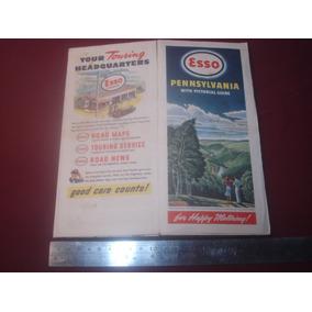Mapa Rodoviário Vintage Esso 1930