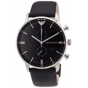 e094b9a60a5 Relógio Emporio Armani Ar0397 Original Masculino Couro Preto