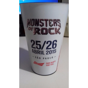 Copo Cerveja Budweiser Oficial Do Monsters Of Rock 2015/sp
