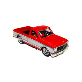 Miniatura Chevy Cheyenne 1972 Jada Toys 1:24 Vermelha