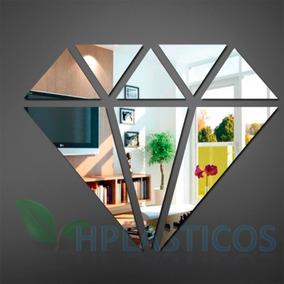 Espelho Decorativo Diamante Grande 50 Cm X 40 Cm