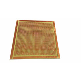 20 Placa 10x10 Perfurada Ilhada Fibra Fenolite