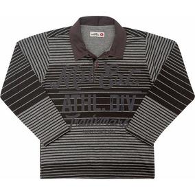 Camisa Polo Infantil Manga Longa Cinza Marisol 5b21c7f00d7ec