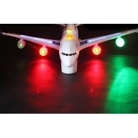 Avião Gigante Bate E Volta Com Som E Luzes 45 Cm Brinquedo