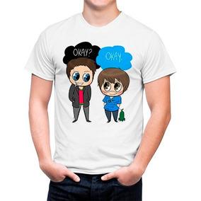 Camiseta A Culpa é Das Estrelas Okay Frases Camisetas E Blusas