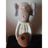 Figura Artesanal De Ceramica Mujer Dl Maiz Retro Vintage