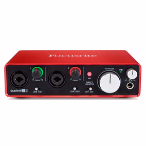 Interface De Áudio Usb Focusrite Scarlett 2i2 2nd - Ac0050