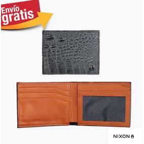 Cartera Nixon 100% Piel Gris Original Bi-fold Nueva