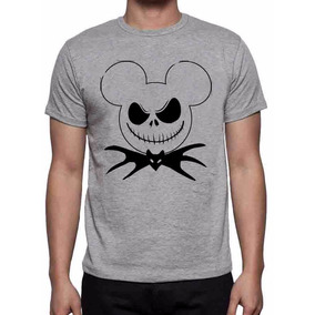 Camiseta Cinza Mescla O Estranho Mundo De Jack Skellington H 44b699b6a6015