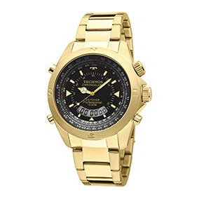 Relógio Technos Masculino Skydiver Pilot T20565 4p Dourado ... b0a54852d2