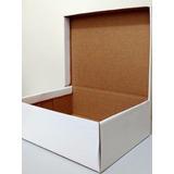 Caixa De Sapato Branca Embalagem De Papelão 18 X 28 - Kit 10