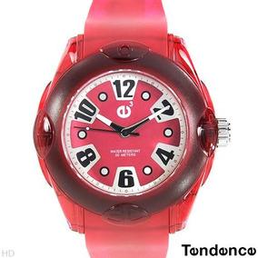 Reloj Tendence E3 Policarbonato Hi-tech, Rojo