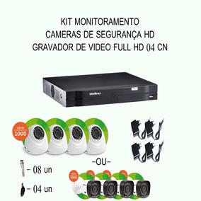 Kit Intelbras Hdcvi 04 Cameras 720p Hd Ir Dvr 04 Canais Etc