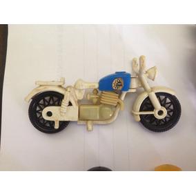 Motocicleta Trol 1977 Playmobil + Lote 8 Bonecos - Moto Rara
