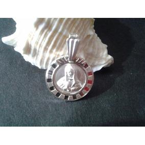 Dije De Plata .925 Virgen De Guadalupe 1.5 Cms Diametro