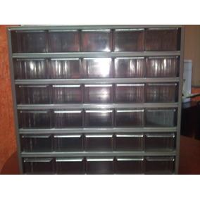 Gabinete Metalico Cajonera Anaquel 30 Gaveta Caja Plastico