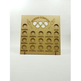 01 Quadro Coleção Moedas Olimpíadas - 23,5x4x24,5 - Mdf