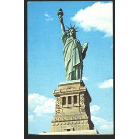Cartão Postal Antigo Estátua Da Liberdade New York Eua