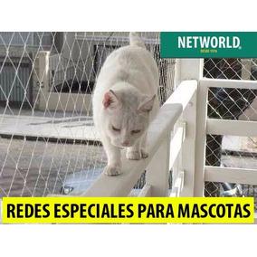 Red Seguridad Para Gatos Perros Aves Mascotas Balcon Ventan