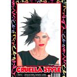 Peluca Cruella Style - Fiesta & Eventos En La Golosineria