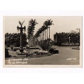 Cartao Postal Fotografico Belo Horizonte Pça Liberdade 1947