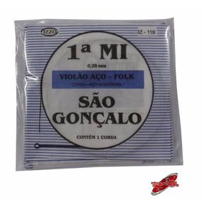 Corda Avulsa São Gonçalo Violão Aço 1 Me(e)pacote Com 24 Un