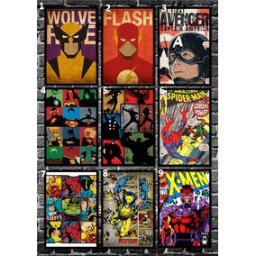 Quadro Pôster Marvel - A4