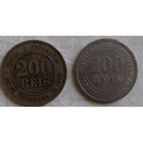 Moeda Brasil - 200 Réis - 2 Peças