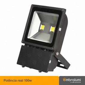 Refletor De Led 100w Real Holofote Branco Frio