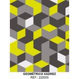 Papel Adesivo Contact Geométrico Xadrez Lavável 45cm X 10mt