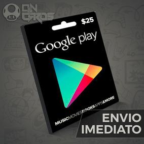 7856e6e24e7b Cartão Google Play Store Gift Card  25 Dolares Us Android