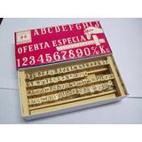 Sello Abc. Mayúsculas, Minúscula Números Y Signos De 7mm