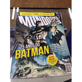 Revista Pôster Mundo Dos Quadrinhos 75 Anos Do Batman!