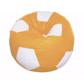 Puff Pufe Bola Futebol 80cm Mostarda Vazio Sem Enchimento 1d575cd64bcd2