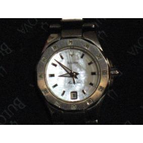 14c8bf82945f Reloj Bulova Mujer Con 12 Ptos De Diamantes En Caratula Vbf